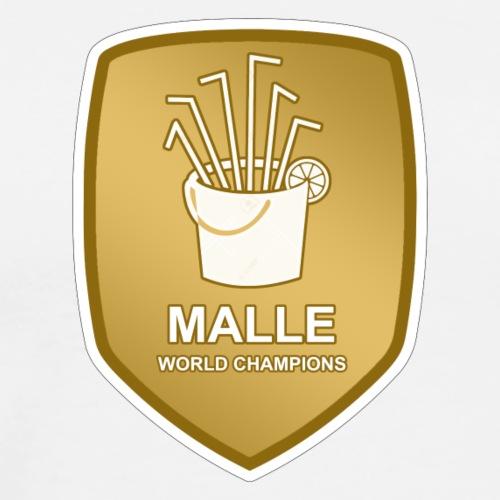 Malle Weltmeister Sangria Eimer Logo Geschenk - Männer Premium T-Shirt