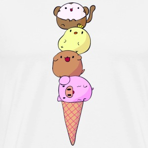 Animal divertido HELADO - Camiseta premium hombre