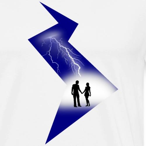 t shirt coup de foudre amour eclair love - T-shirt Premium Homme