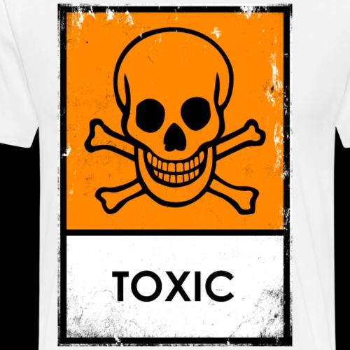 Punk. Calavera peligro químico. Tóxico o venenoso - Camiseta premium hombre