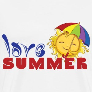 LOVE SUMMER - Männer Premium T-Shirt