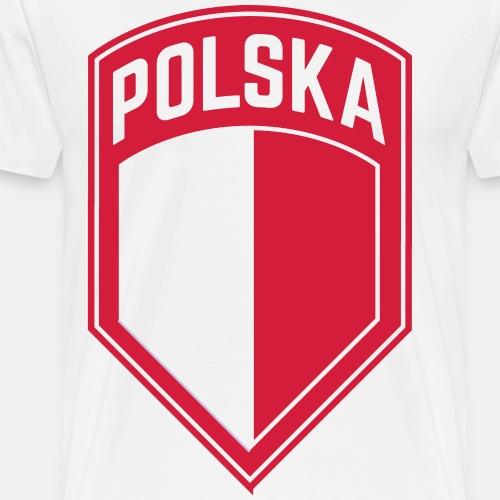 Godło herbowe Polska Coat of Arms Polska - Koszulka męska Premium