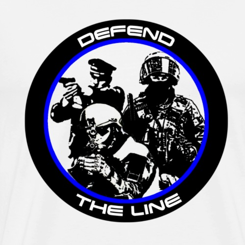 Defend the Line - Männer Premium T-Shirt