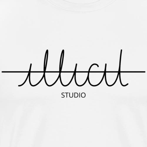 Logo ILLICIT STUDIO schwarz - Männer Premium T-Shirt