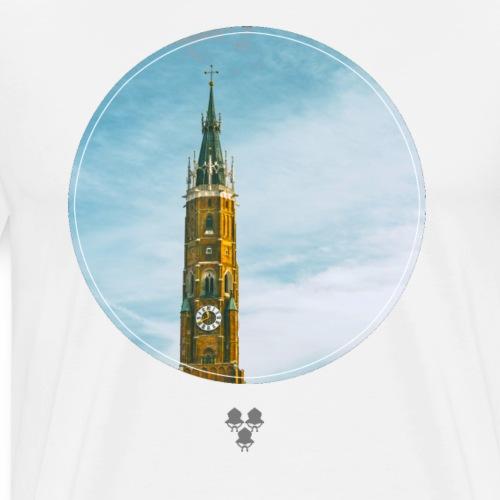 Martinskirche, circle, no font - Männer Premium T-Shirt