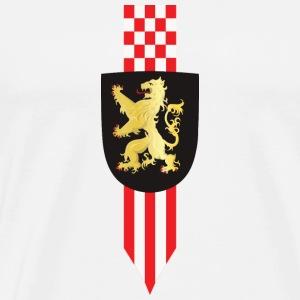 Logo Brabant Leeuw en korte winpel def - Mannen Premium T-shirt