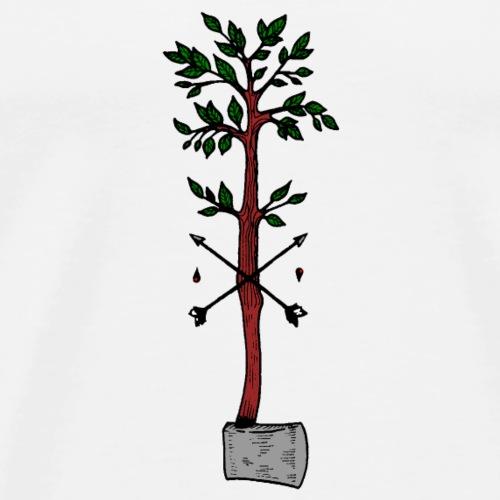 Baum Axt Zeichnung - Männer Premium T-Shirt