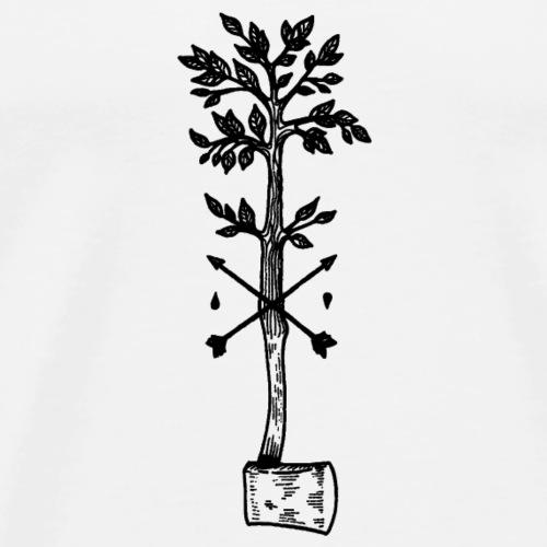 Zeichnung Baum oder Axt - Männer Premium T-Shirt