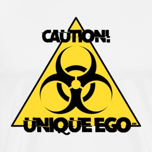 Varning! Unik Ego - The Biohazard Edition - Premium-T-shirt herr