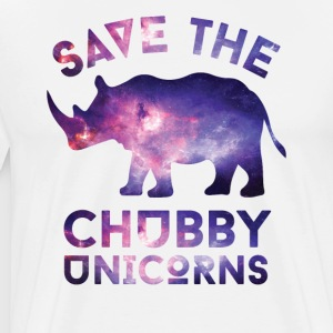 SPAR CHUBBY UNICORNS T-SHIRT - Premium T-skjorte for menn