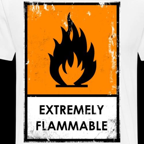 Punk. Peligro químico. Extremadamente inflamable - Camiseta premium hombre