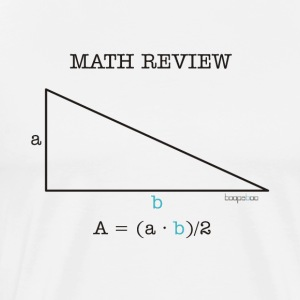 Math Review Triangle - Maglietta Premium da uomo