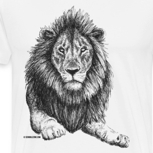 Scribbled Lion - Männer Premium T-Shirt