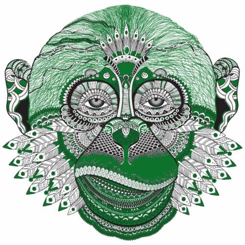 kunstvoller Affe Indianer/ colorful ape/ monkey - Männer Premium T-Shirt