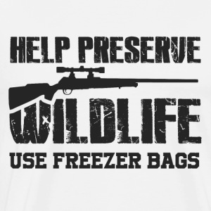 Obtaining freezer bag by wildlife - Men's Premium T-Shirt