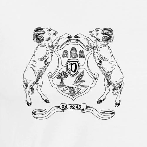 Familienwappen Alten-, Junge- und Deitering - Männer Premium T-Shirt