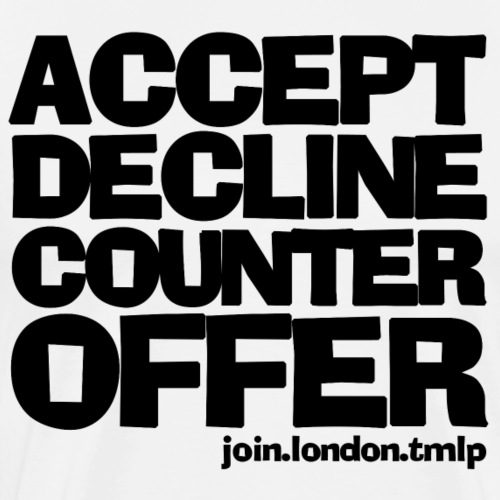 accept decline counteroffer black text - Men's Premium T-Shirt