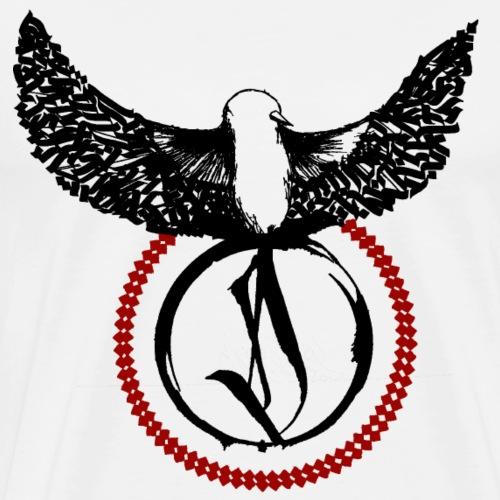 Calligraphie Bird Dase One - Männer Premium T-Shirt