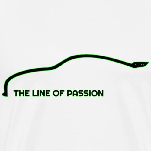 Line of Passion - Maglietta Premium da uomo