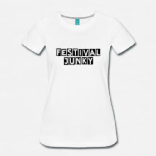 Festival_Junky_wit-png - Mannen Premium T-shirt