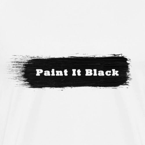 Paint it black - Männer Premium T-Shirt
