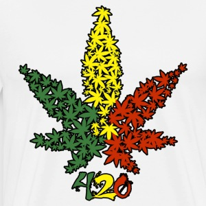 Rasta Leaf 420 - Men's Premium T-Shirt