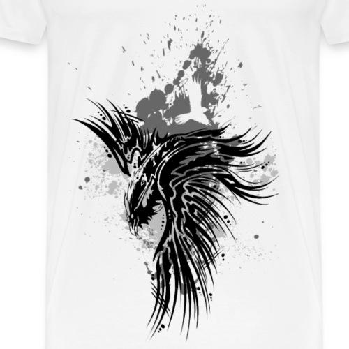 Rabe Kleckse schwarz - Männer Premium T-Shirt