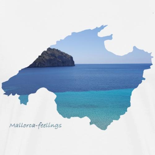 Mallorca-feelings blue water - Männer Premium T-Shirt