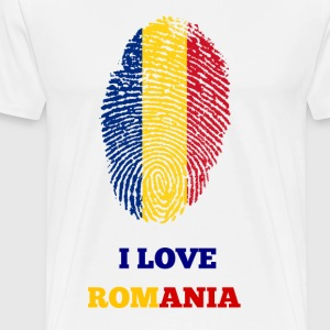 I Love Romania - Premium T-skjorte for menn