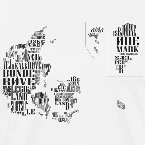 Danmarkskort over fordomme - Herre premium T-shirt