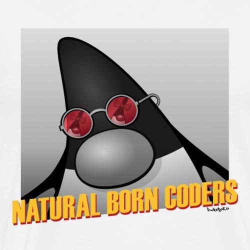 Natural Born Coders - Männer Premium T-Shirt