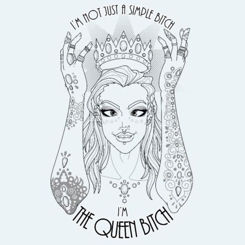 The Queen Bitch - Premium-T-shirt herr