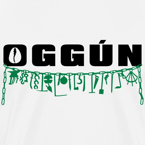 Oggun with achaba 3 - Mannen Premium T-shirt