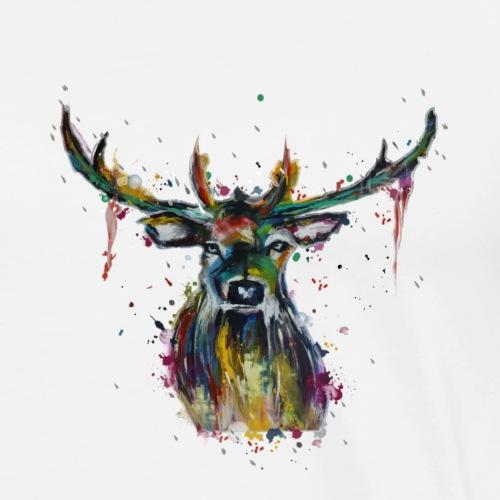 Bunter Hirsch Motiv - Männer Premium T-Shirt