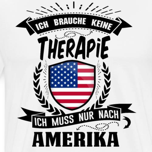 Therapie Amerika BLK - Männer Premium T-Shirt