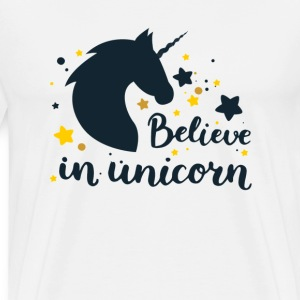 GELOOF IN UNICORN - Mannen Premium T-shirt