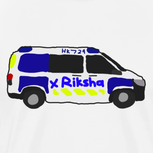 poliisiauto - Miesten premium t-paita