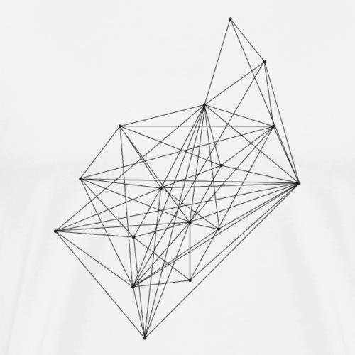 minimal linien verbindungen abstrakt - Männer Premium T-Shirt