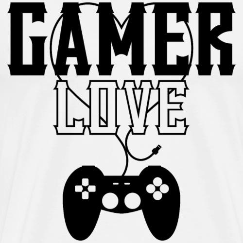 Gamer Love (Schwarz) - Männer Premium T-Shirt