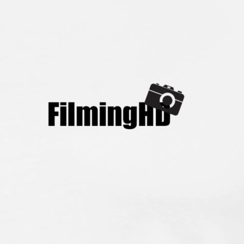 FilmingHD black logo - Mannen Premium T-shirt