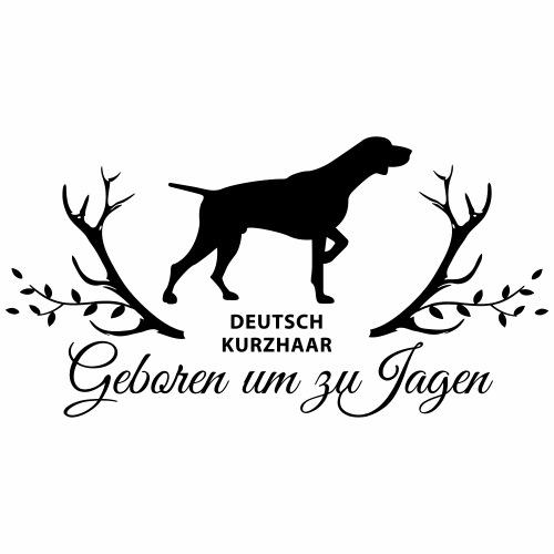 Deutsch Kurzhaar Geboren um zu Jagen - Männer Premium T-Shirt