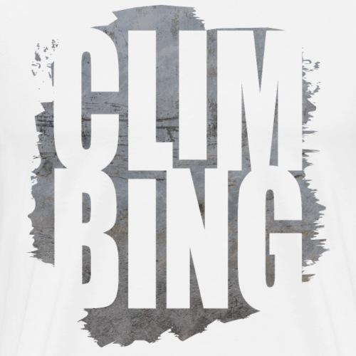 Climbing Letters Shirt - Männer Premium T-Shirt