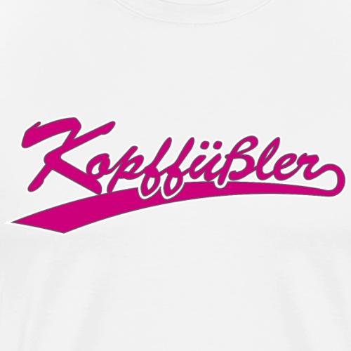 Kopffuessler Schriftzug - Männer Premium T-Shirt