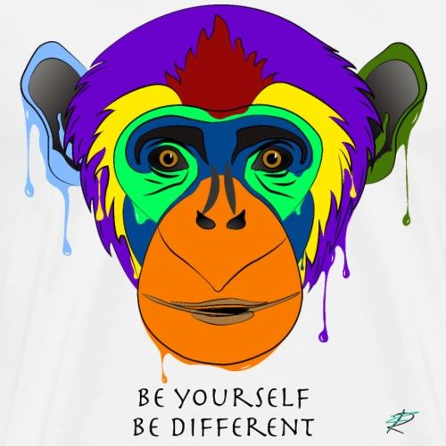 Be yourself, be different - Scimpanzé - Maglietta Premium da uomo