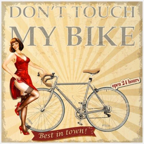 Dont touch my bike - Niemand fasst mein Fahrrad an - Männer Premium T-Shirt
