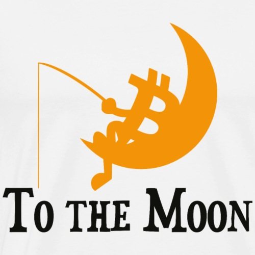 Bitcoin -To The Moon - Männer Premium T-Shirt