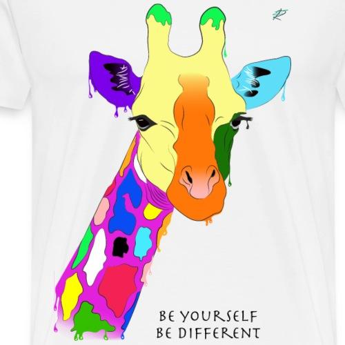 Be yourself, be different - Giraffa - Maglietta Premium da uomo
