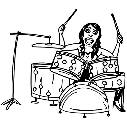Lovely Mrs Sheila on the drums - Männer Premium T-Shirt
