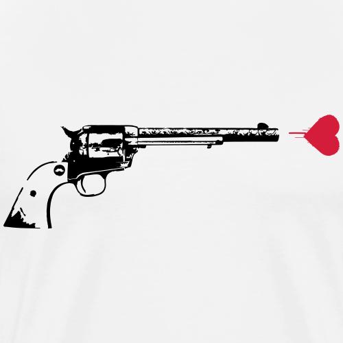 LOVE GUN   Street Art - Männer Premium T-Shirt
