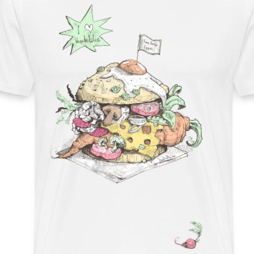 I Love Vegetables V2 - Männer Premium T-Shirt
